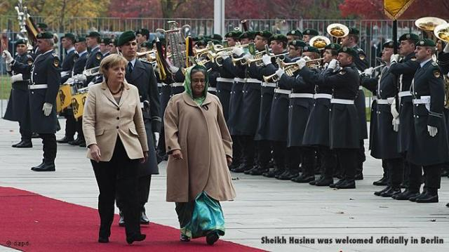 Sheikh Hasina was welcomed officially in Berlin