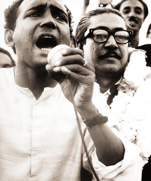 Tofail Ahmed with Bangabandhu in 1968