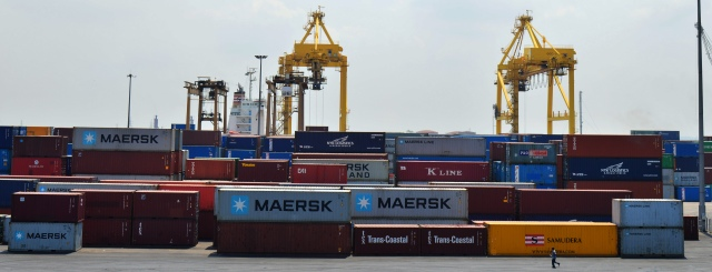 Stacking Intermodal container in Port of Chittagong
